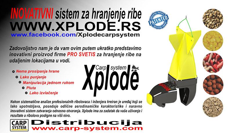 Carp System Raketa za prehranu za saranski ribolov XPL Xplode